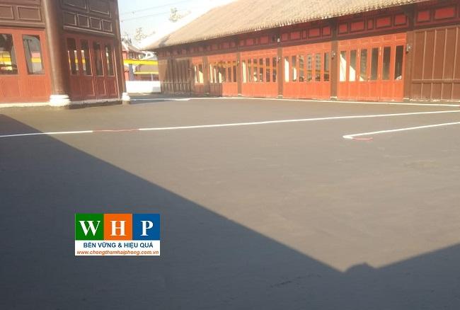 Sàn mái sau khi hoàn thành chống thấm