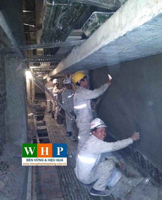 Thi công chống thấm ngược cho gạch xây
